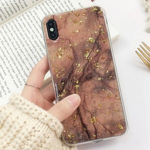 Accessories - NEW iPhone 7+/8+ Brown and Gold Foil Case